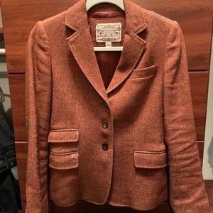 Banana Republic Rust Herringbone Jacket